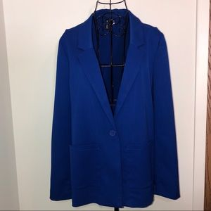 H&M boyfriend blazer in royal blue